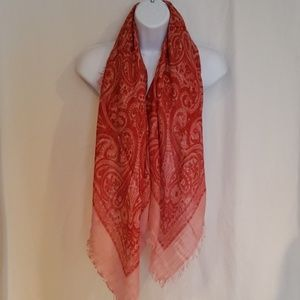 Lucky Brand Red Scarf